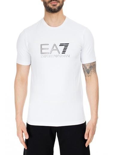 EA7 Emporio Armani  Regular Fit T Shirt Erkek T Shırt S 6Gpt09 Pj20Z 1100 Beyaz